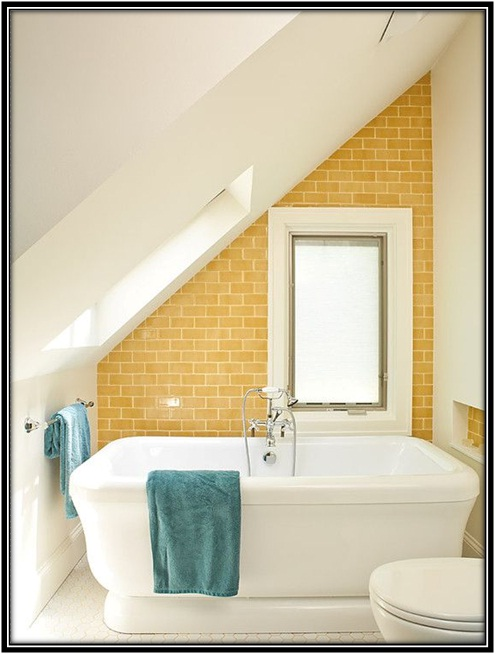 sunny color tiles use in bath area