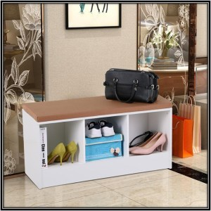 Shoe Organizer With Padded Seat Home DEcor Ideas