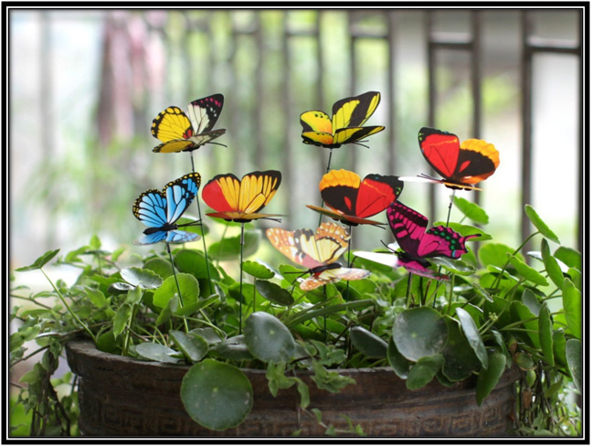 Butterfly Stakes Garden Decoration Ideas Home Decor Ideas