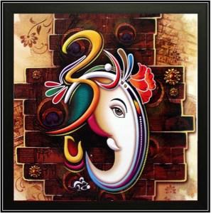 Ganesh Oil Painting Home Decor Ideas