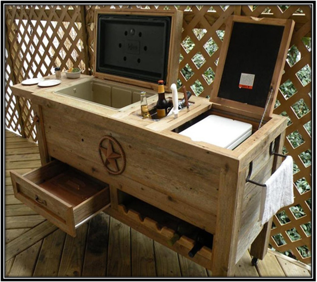 Outdoor Patio Cooler Bar Home Decor Ideas