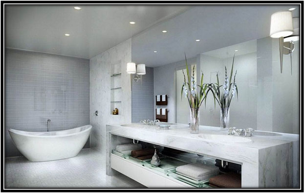 For An All-white Luxurious Bathroom Luxury Bathroom Decoration Home Decor Ideas