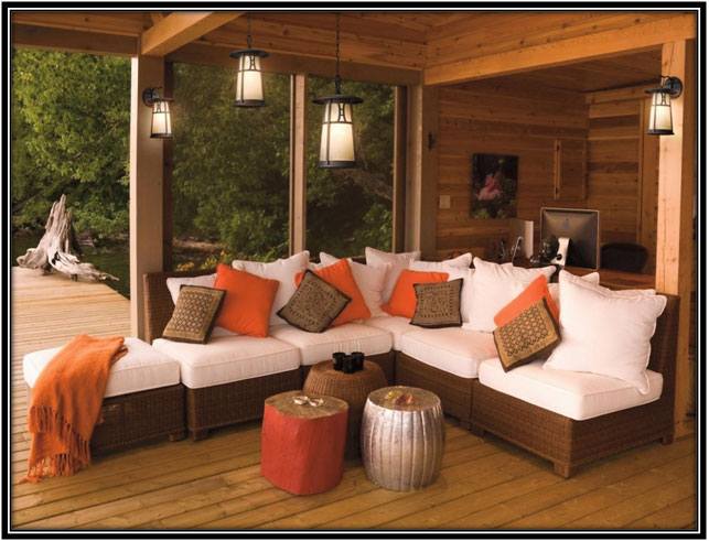 Rustic Outdoor Living Area Outdoor Living Decoration Ideas