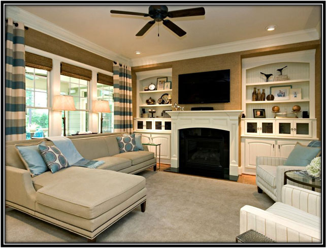 Family Room With A Fire Place Family Room Decor Ideas