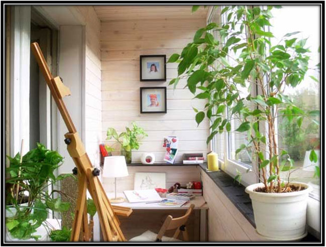 Your Study Or Painting Area Balcony Decoration Ideas