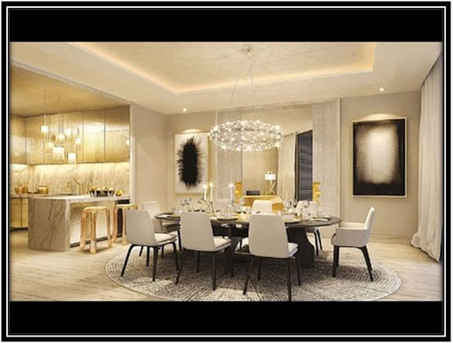 Dazzling Dining Room Celebrity House Interior Ideas