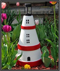 Interior Decoration Ideas Clay Pot Light House