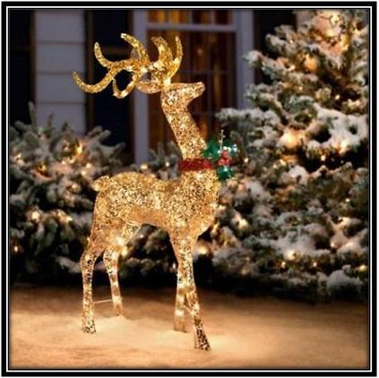 Santa Deer Christmas Decoration Ideas