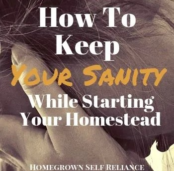 How To Keep Your Sanity While Starting Your Homestead