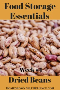 Food Storage Essentials - Dried Beans