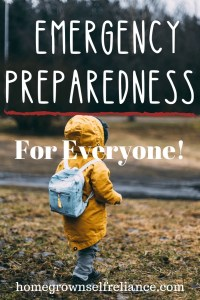 Child with backpack - Emergency preparedness for everyone
