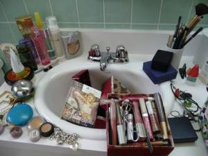 Clutter Bathroom Sink