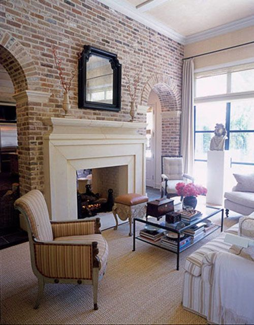 brick wall fireplace ideas 12