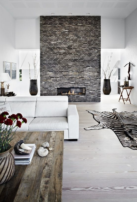 12 stunning ideas to make your brick wall fireplace unique Brick fireplace wall decorating ideas