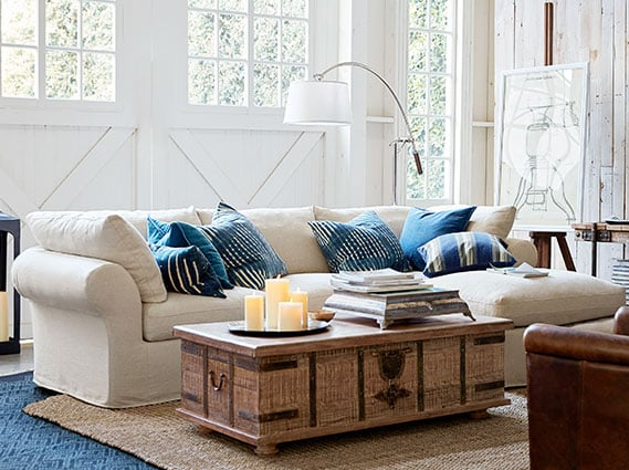 pottery barn living room ideas 12