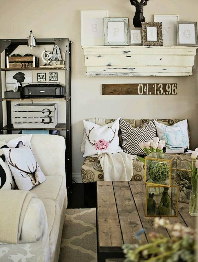 rustic ideas for living room 9