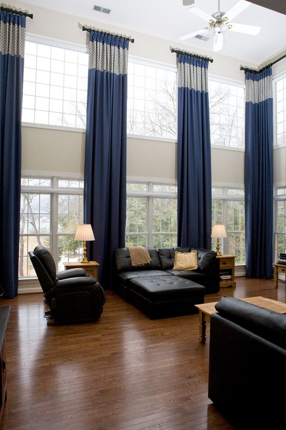 Large Living Room Window Treatment Ideas ... window treatments ideas for large windows in living room 4