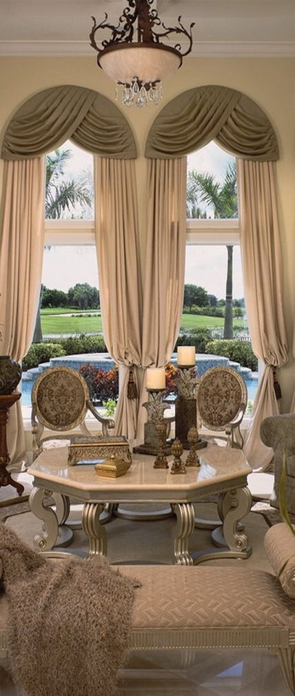 Astonishing window treatments for large windows in living - Living room window treatments for large windows ...