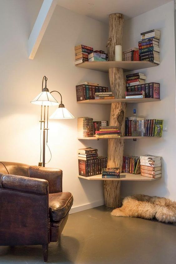 Exceptional Ideas For Small Rooms Part - 5: Bookshelf Ideas For Small Rooms 5