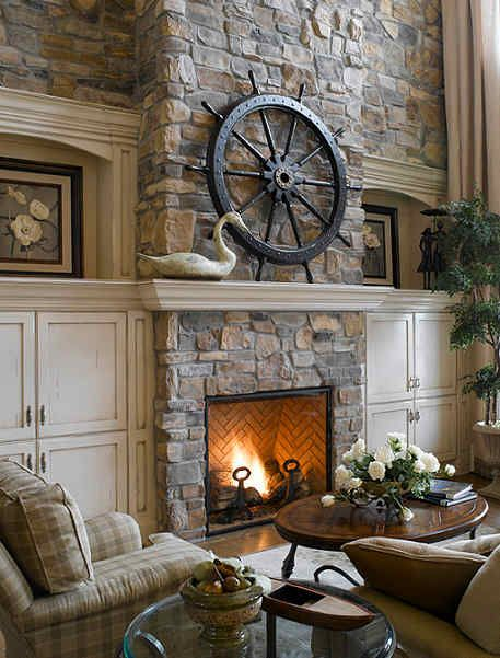 Iron ideas for a cobblestone fireplace. ...