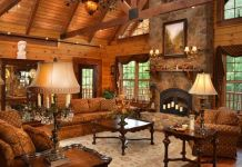 cobblestone fireplace ideas 4