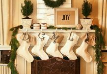 holiday fireplace mantel decorating ideas 4