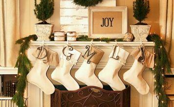 holiday fireplace mantel decorating ideas 4