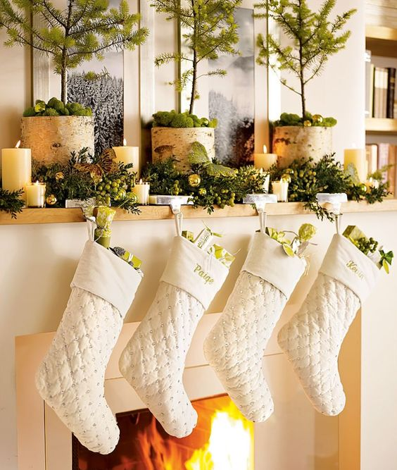 holiday fireplace mantel decorating ideas 9
