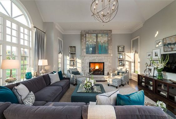 Merveilleux ... Living Room Layout Fireplace And TV 3 1