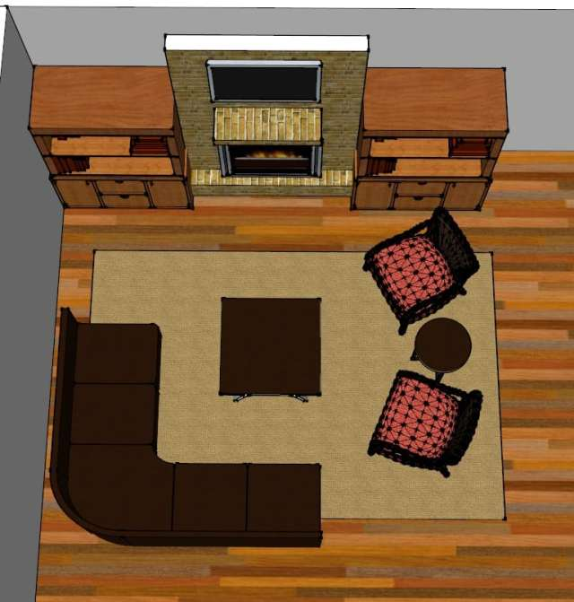 living room layout fireplace and TV 7