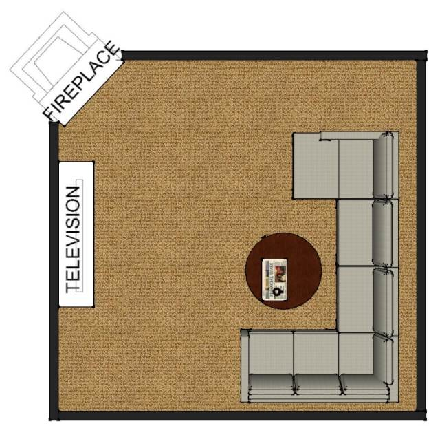living room layout fireplace and TV 8