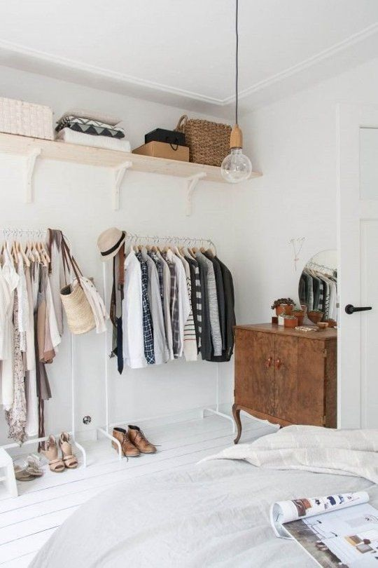 Clothes Rack Organization For Small Bedrooms. Small Bedroom Storage And  Organization Ideas 3