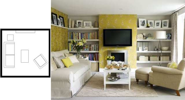 small living room layouts with TV 11
