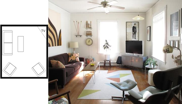 ... Idea 7. Small Living Room Layouts With TV 8