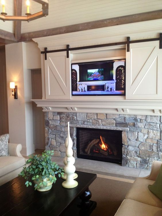 tv over the fireplace ideas 3