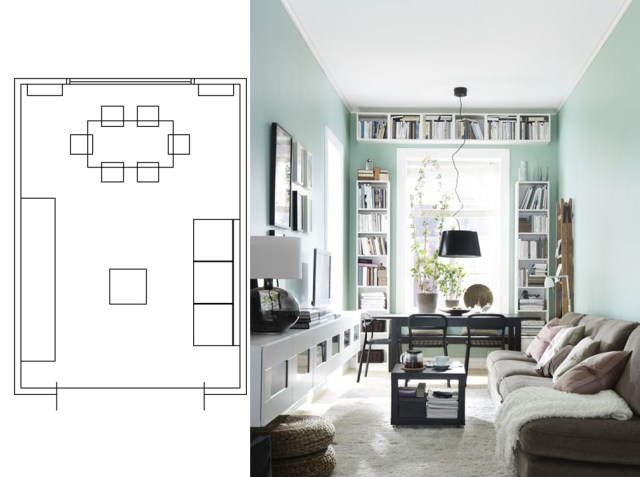 narrow living room layouts 12