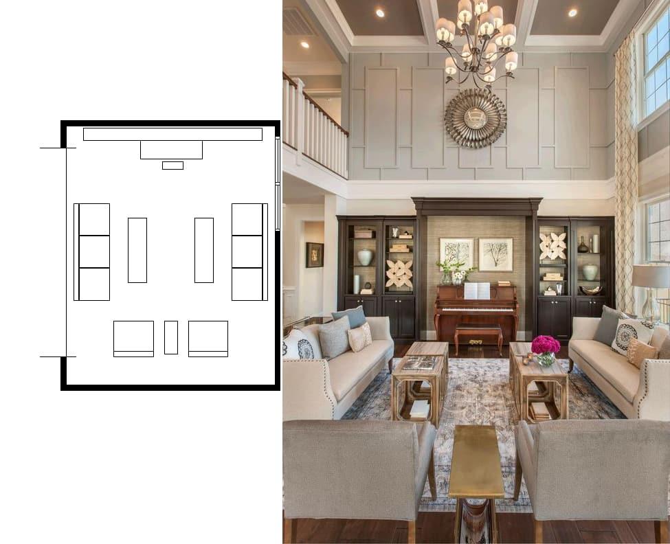 ... Narrow Living Room Layouts 4