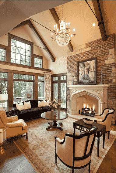 The Irreplaceable Classic Stone Fireplace