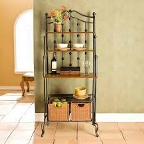 how to decorate a kitchen bakers rack