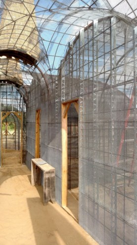A view of the all after all the lath was in place.