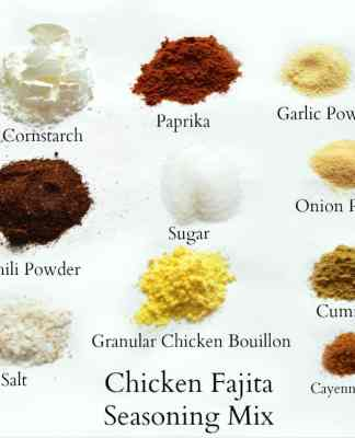 Chicken Fajita Seasoning Mix Recipe- Home in the Finger Lakes