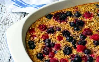 Mixed Berry Baked Oatmeal
