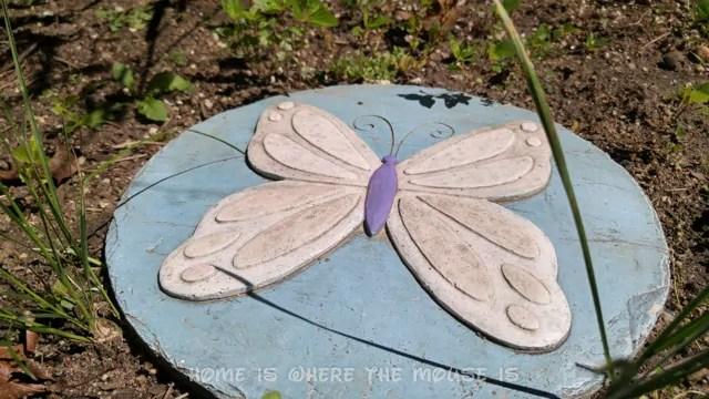 Butterfly garden stone