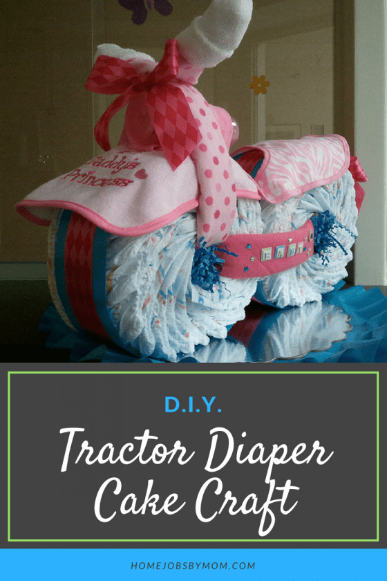 Tractor Diaper Cake Craft