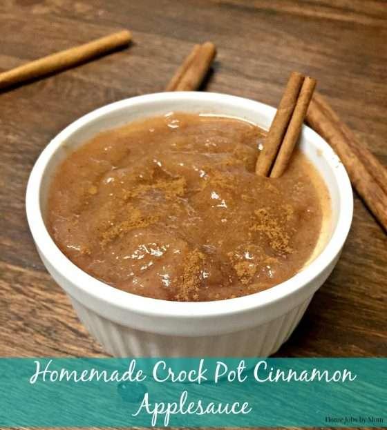 Homemade Crock Pot Cinnamon Applesauce