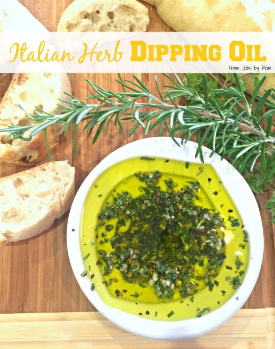 Italian Herb Dipping Oil Recipe #momsmeet
