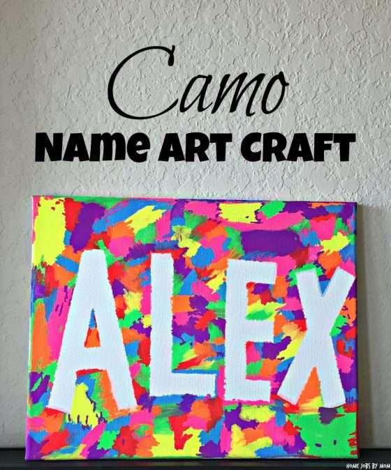 Alex Easy Camo Name Art