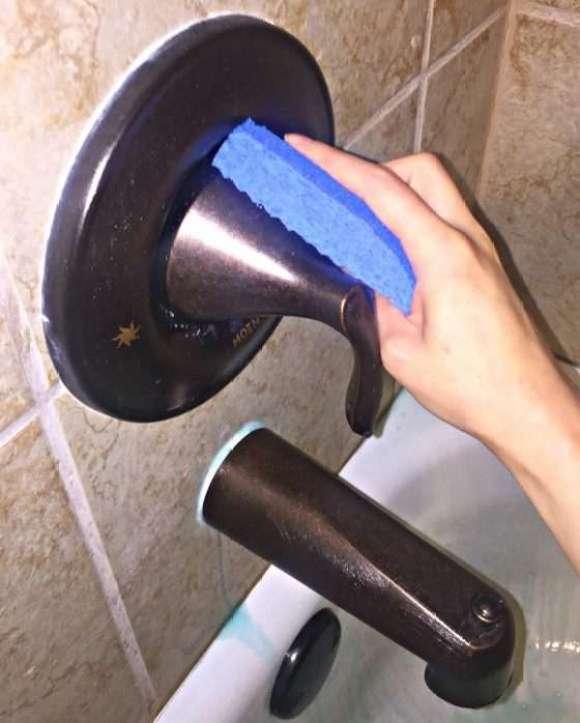blue non-scratch sponge