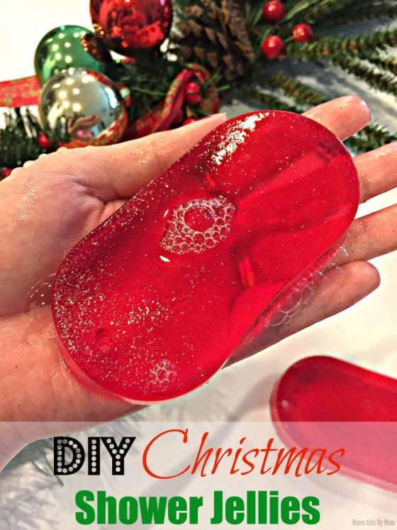 DIY Christmas Shower Jellies