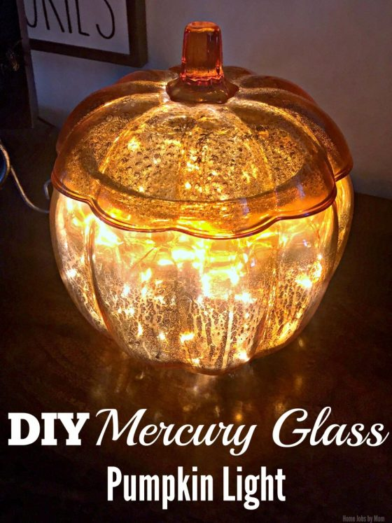 DIY Mercury Glass Pumpkin Light #LTKholidayathome